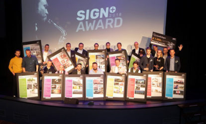 Uitreiking Sign Award 2018