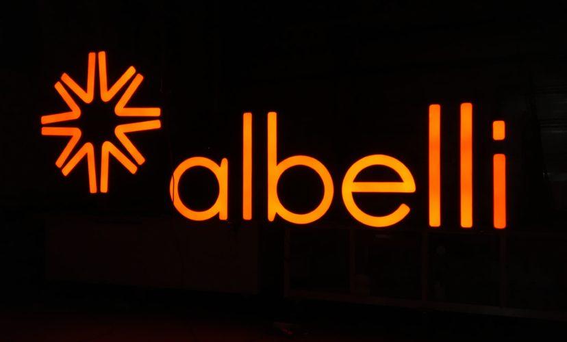 Lichtreclame Albelli